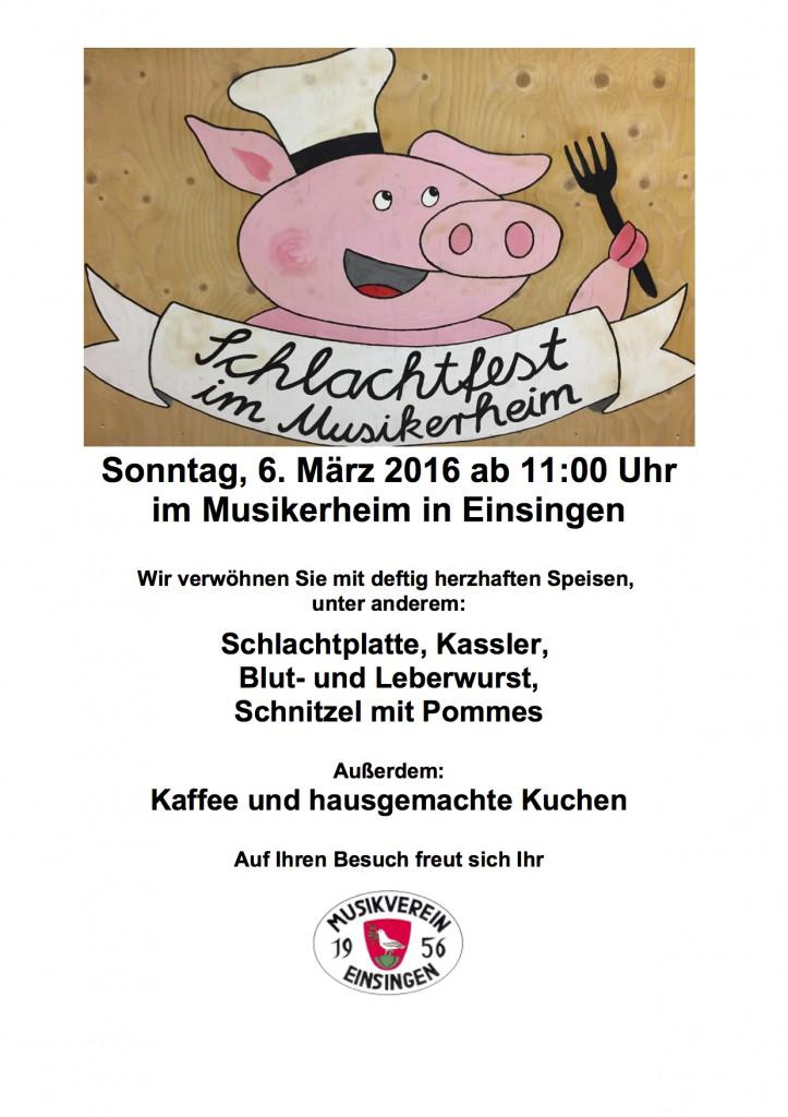 Plakat Schlachtfest 2016